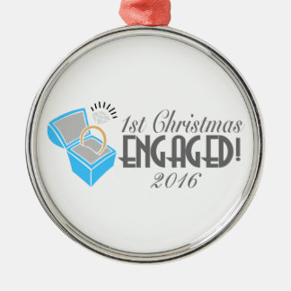 1st Christmas Engaged Ornament Dated 2016