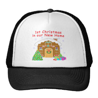 1st Christmas in our New Home Hat