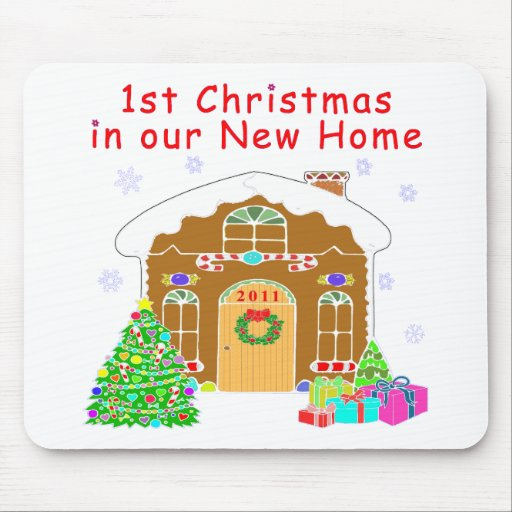1st Christmas in our New Home Mousepads