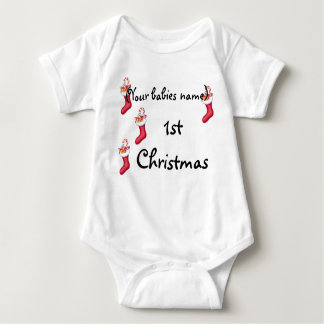 1ST CHRISTMAS PERSONALIZED BABY BODYSUIT