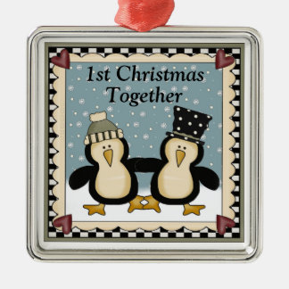 1st Christmas Together Penguin Gift Christmas Ornament