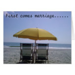 1st COME MARRIAGE-THEN COMES THE HONEYMOON! Big Greeting Card