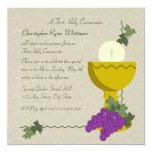 1st Communion 13 Cm X 13 Cm Square Invitation Card