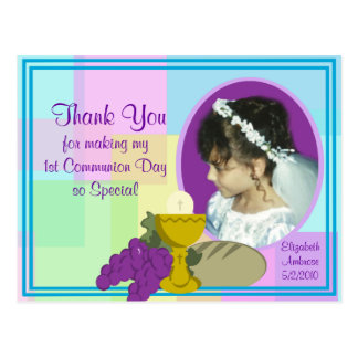 1st Communion Thank You/ Photo Postcard