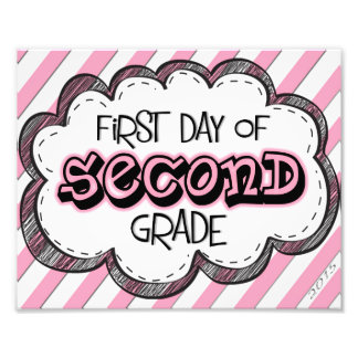 1st Day of 2nd Grade! Photo Art