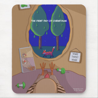 1st Day of Christmas Partridge in Tree Mousepad