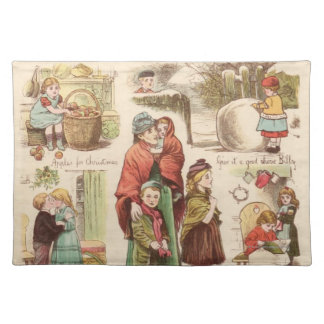 1st December 1879: A set of Christmas sketches Placemat