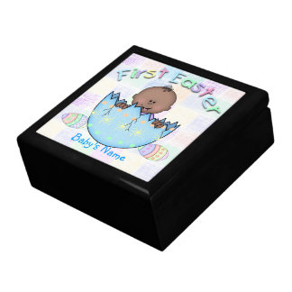 1st Easter Ethnic Baby Boy Gift Box/Trinket Box Large Square Gift Box