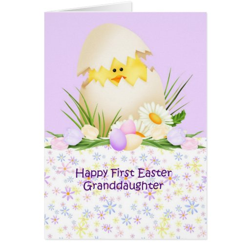 1st Easter Granddaughter Greeting Card