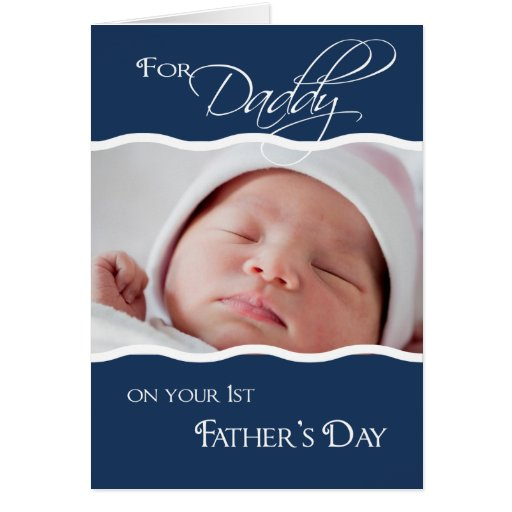1st Father's Day  - Photo Card
