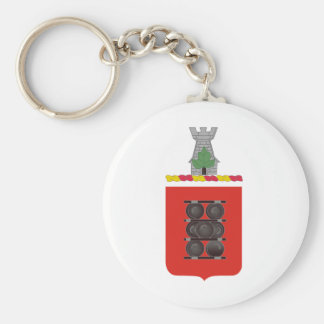 1st Field Artillery Regiment Coat of Arms Basic Round Button Key Ring