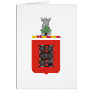1st Field Artillery Regiment Coat of Arms Greeting Card