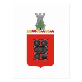1st Field Artillery Regiment Coat of Arms Postcard