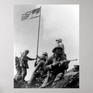1st Flag Raising On Iwo Jima Poster
