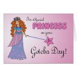 1st Gotcha Day, Adoption Anniversary Princess Greeting Card