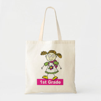 1st Grade Girls Tote Bags