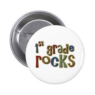 1st Grade Rocks First 6 Cm Round Badge