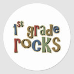 1st Grade Rocks First Round Sticker