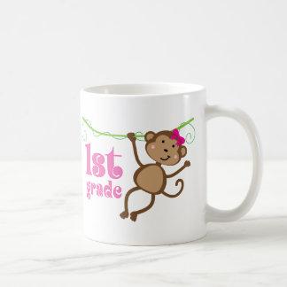 1st Grade Teacher Monkey Gift Coffee Mug