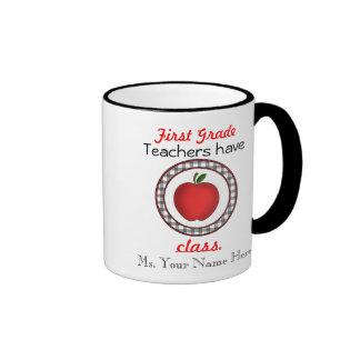 1st Grade Teachers have class apple mug