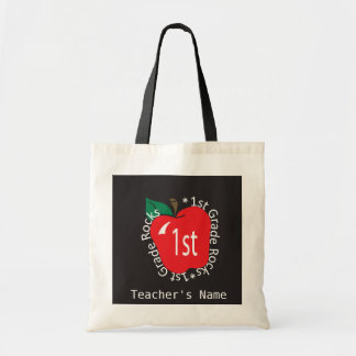 1st Grade Teachers Rock   DIY Name Budget Tote Bag
