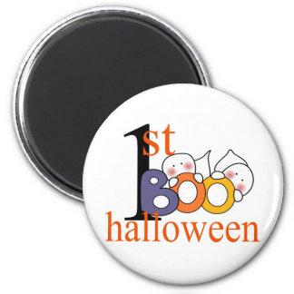 1st Halloween Ghost BOO! 6 Cm Round Magnet