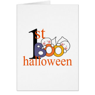 1st Halloween Ghost BOO! Greeting Card
