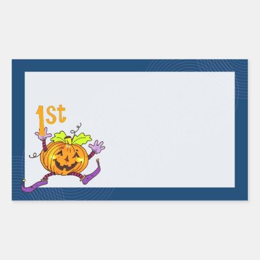 1st Halloween Happy Pumpkin Sticker