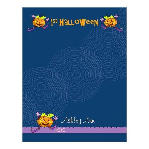 1st Halloween Pumpkin Scrapbook Paper 1 Flyer Design