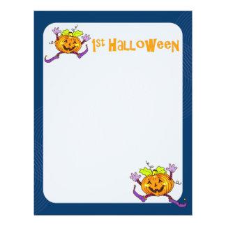 1st Halloween Pumpkin Scrapbook Paper 2 21.5 Cm X 28 Cm Flyer
