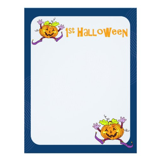 1st Halloween Pumpkin Scrapbook Paper 2 Custom Flyer