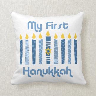 1st Hanukkah Candles Cushion