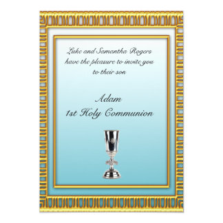 "1st Holy Communion Party Invitation 5"" X 7"" Invitation Card"