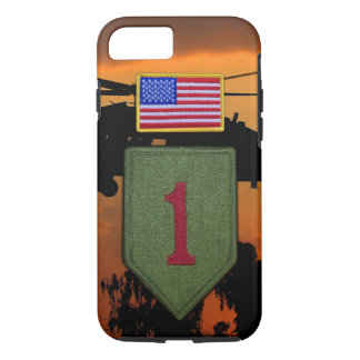 1st ID infantry big red 1 veterans vets iPhone 8/7 Case