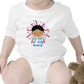 1st Independence Day 4th of July personalized Bodysuit