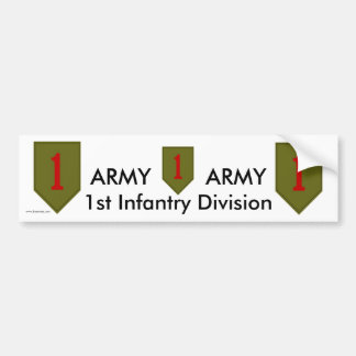 1st Inf Div bs/1 Bumper Sticker