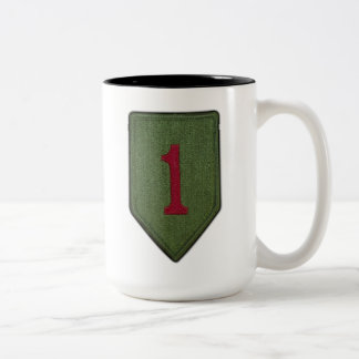 1st Inf Div Infantry Division Veterans Vets patch Two-Tone Coffee Mug