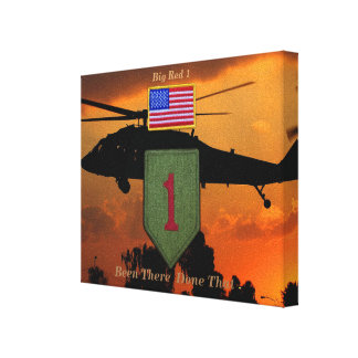 1st infantry big red 1 veterans vets patch canvas prints