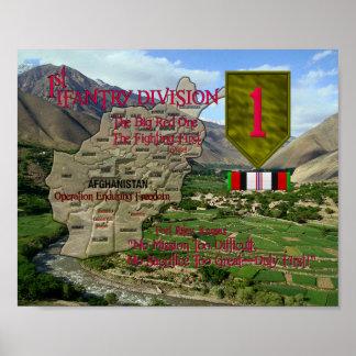 1st Infantry Div OEF Poster