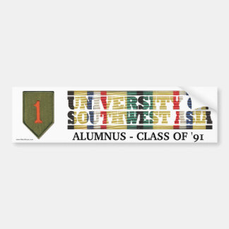 1st Infantry Div U of Southwest Asia Sticker Bumper Stickers