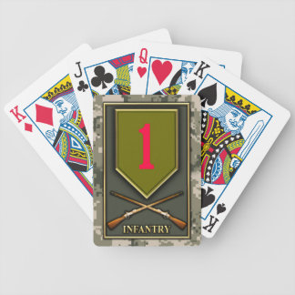 1st Infantry Division Bicycle Playing Cards