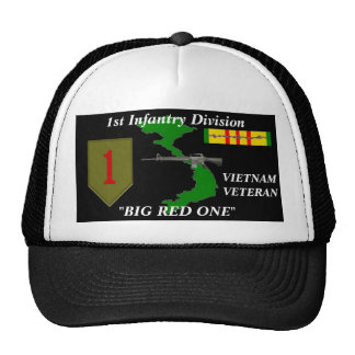 """1st Infantry Division""""Big Red One"""" Ball Caps Trucker Hat"""
