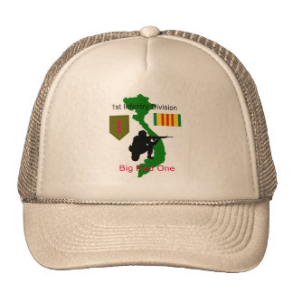 1st Infantry Division Big Red One Vietnam Vet Hat