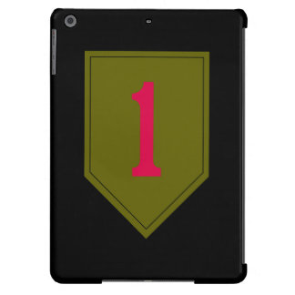 """1st Infantry Division """"The Big Red One"""" Black iPad Air Case"""
