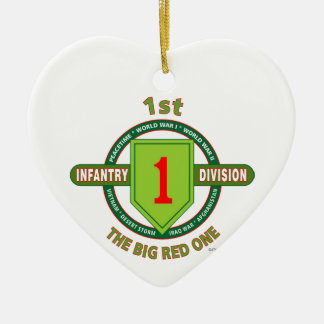 """1ST INFANTRY DIVISION """"THE BIG RED ONE"""" CHRISTMAS ORNAMENT"""