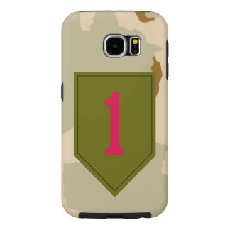 """1st Infantry Division """"The Big Red One"""" Desert Samsung Galaxy S6 Cases"""