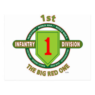 "1ST INFANTRY DIVISION ""THE BIG RED ONE"" POSTCARD"