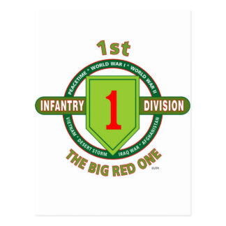 """1ST INFANTRY DIVISION """"THE BIG RED ONE"""" POSTCARD"""
