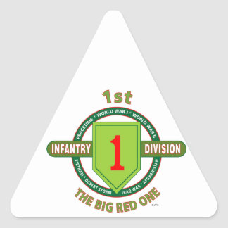 "1ST INFANTRY DIVISION ""THE BIG RED ONE"" TRIANGLE STICKER"
