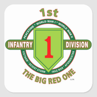 "1ST INFANTRY DIVISION ""THE BIG RED ONE"" STICKER"